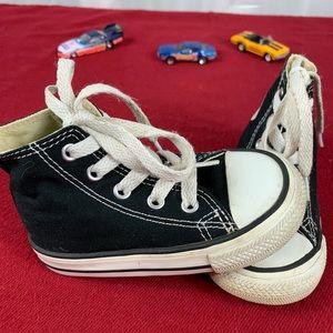 Baby Size 6  Converse Black Hi Tops